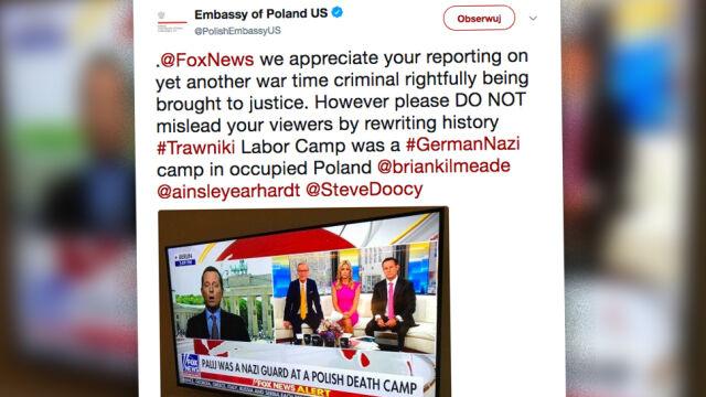 """Fox News o """"polskim obozie śmierci"""". Ambasada: nie wprowadzajcie w błąd"""