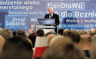 Jarosław Kaczyński o sądownictwie na konwencji w Olsztynie