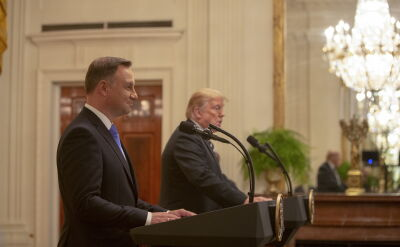 Donald Trump gościł Andrzeja Dudę w Białym Domu