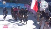 Grupa lidera wyścigu i Rafała Majki na mecie 17. etapu Giro d'Italia