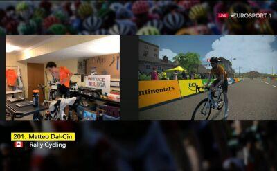Dal-Cin wygrał 3. etap Wirtualnego Tour de France