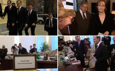Tak wyglądało pierwsze posiedzenie rządu Donalda Tuska