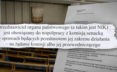 Szef NIK Marian Banaś odpowie przed komisją senacką