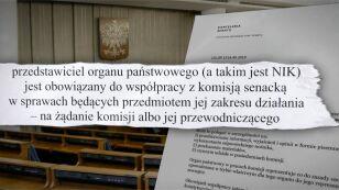 Senacka komisja planuje zaprosić szefa NIK do złożenia wyjaśnień