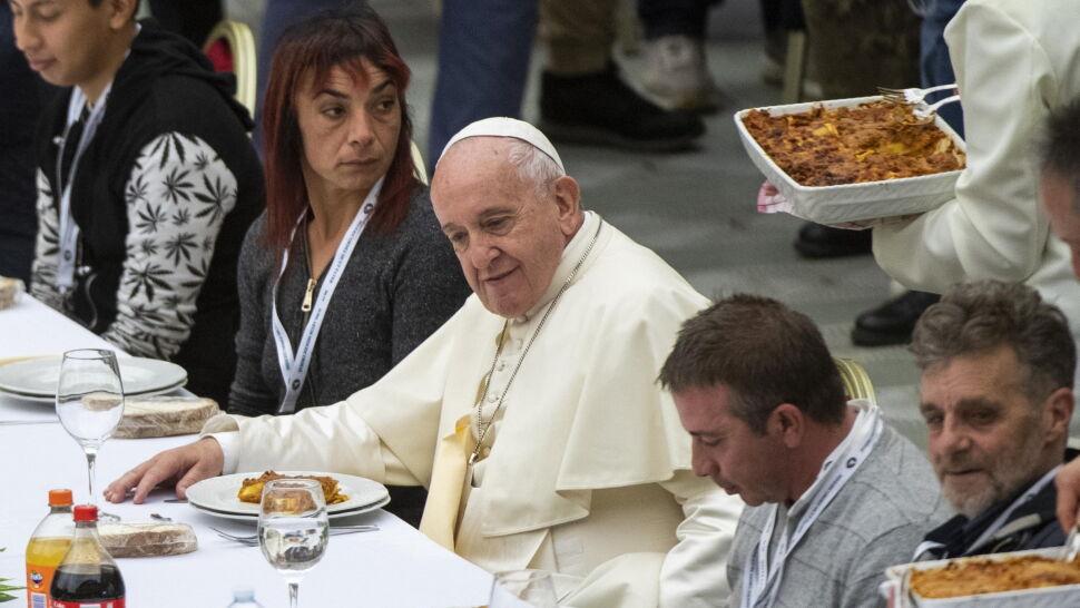 1500 potrzebujących na obiedzie z papieżem