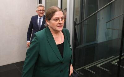 """Pawłowicz pytana przed komisją o """"mordę"""": to nie jest żadne słowo wulgarne"""