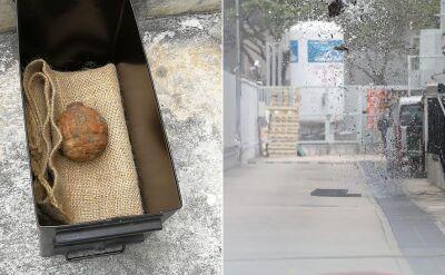 Pordzewiały granat znaleziono w partii ziemniaków z Francji