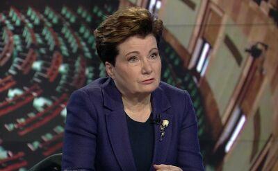 """""""Kaczyński chciał na kogoś zrzucić winę"""". Gronkiewicz-Waltz o sprawie wieżowca Srebrnej"""
