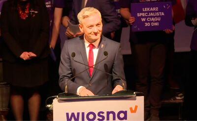 Robert Biedroń o wynikach sondażu poparcia dla partii