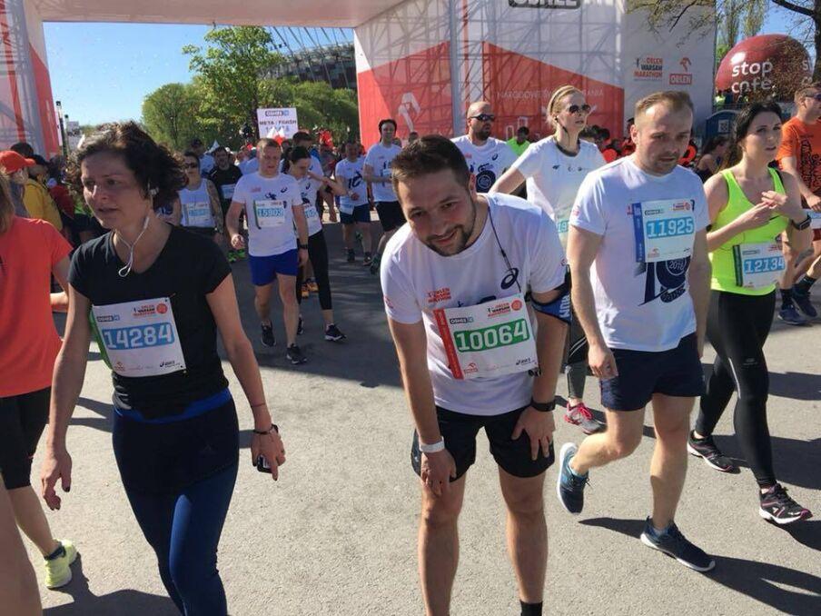 Magazyn   Patryk Jaki wziął udział w biegu na 10 km w Orlen Warsaw Marathon, kwiecień 2018 r.