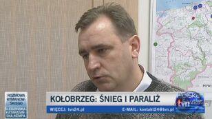 Od Koszalina do miejscowości Tymień droga jest już odblokowana (TVN24)