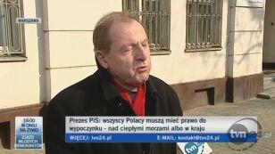 Tadeusz Iwiński o wystąpieniu Kaczyńskiego (TVN24)