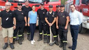 Księżniczka Wiktoria z niezapowiedzianą wizytą u polskich strażaków