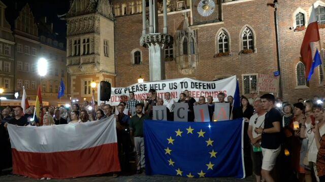 """""""Nie ma wakacji od demokracji"""". Protest we Wrocławiu"""