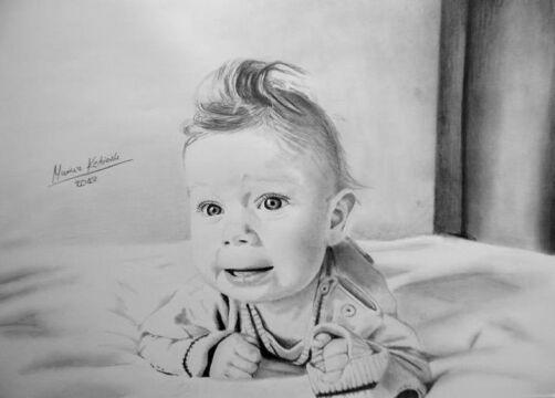 Rysunki autorstwa Mariusza Kędzierskiego, niepełnosprawnego chłopca ze Świdnicy