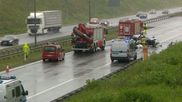 Two people were killed in an A2 motorway accident near Poznań