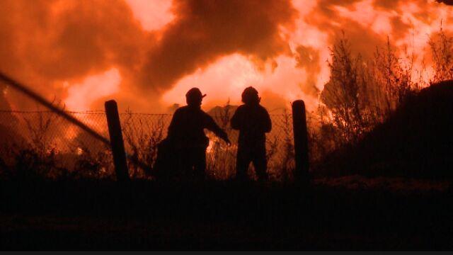 Jedna miejscowość, kilka godzin i dwa duże pożary.