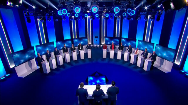 Three hosts and fourteen candidates for Mayor of Warsaw in one studio
