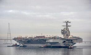 Nowy amerykański lotniskowiec USS Gerald R. Ford
