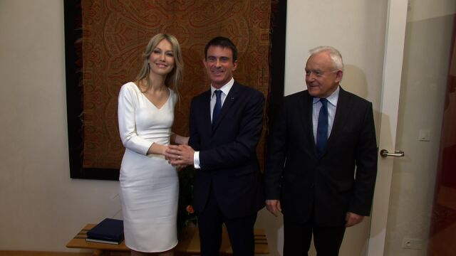 O Ukrainie i kampanii prezydenckiej. Ogórek z premierem Francji