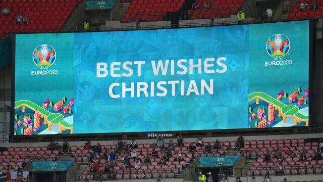 """Pierwsze wystąpienie duńskich piłkarzy po dramacie Eriksena. """"Musimy wygrać dla Christiana"""""""