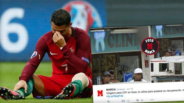 Ronaldo leczy kolano tlenem. W klinice dentystycznej