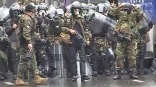 Walki na ulicach Tbilisi