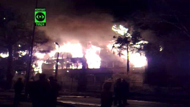 Świadek pożaru: wszystko płonęło jak pochodnia, nie było czasu na nic