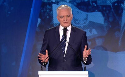 Jarosław Gowin podczas konwencji samorządowej PiS