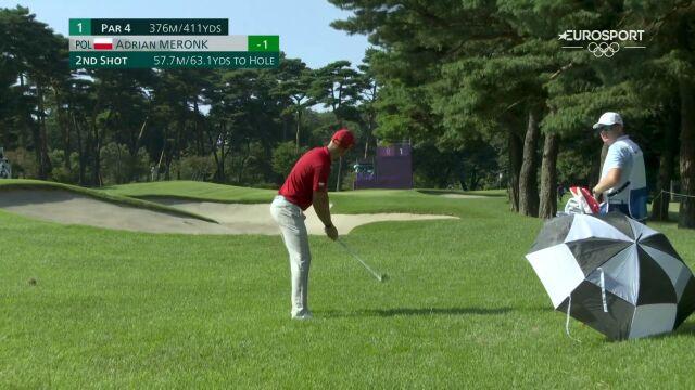Tokio. Golf. Uderzenie Adriana Meronka