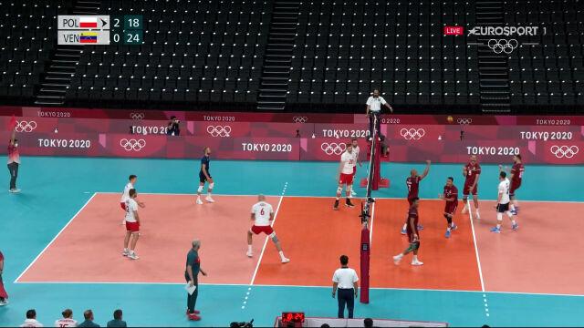 Tokio. Wenezuela wygrała 3. seta w starciu z Polską w turnieju siatkarzy