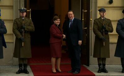 David Cameron przyjechał do Warszawy