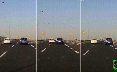 """Zajeżdża drogę, kierowca ledwo opanowuje auto. """"Takiego chamstwa nie widziałem"""""""