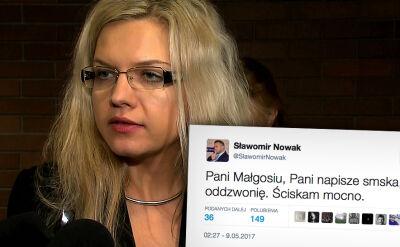 Małgorzata Wasserman dzwoni do Sławomira Nowaka