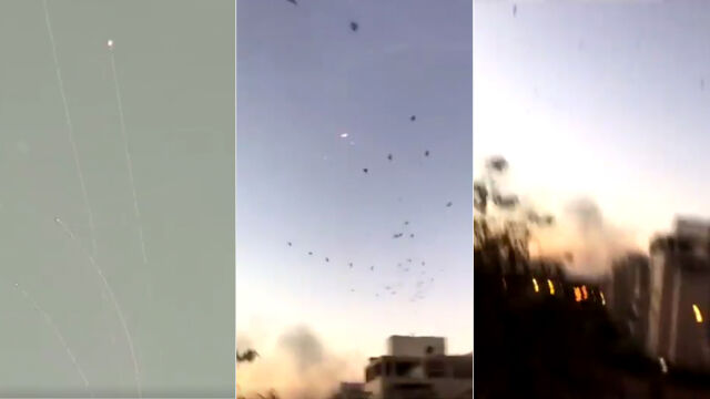 Setki rakiet wystrzelonych w kierunku Izraela. Największa wymiana ognia od kilku lat