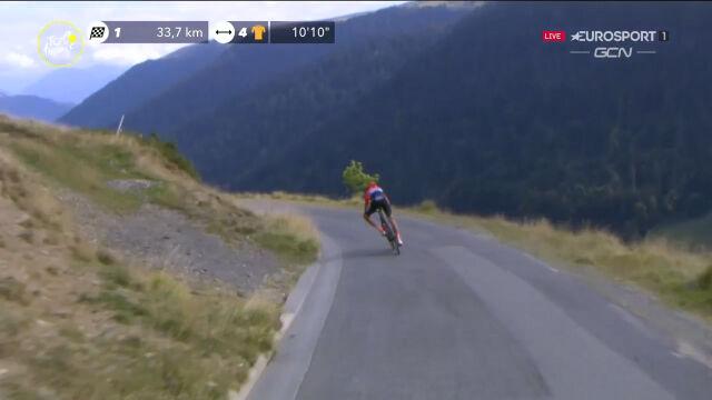 Zakarin odstawał na zjazdach podczas 8. etapu Tour de France