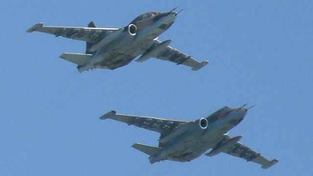 Białoruski Su-25 rozbił się podczas ćwiczeń