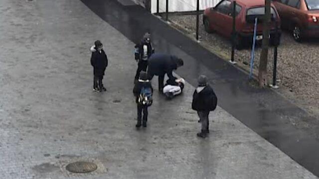 Złapał ośmiolatka za gardło i przycisnął do ziemi. Policja prosi o pomoc w rozpoznaniu mężczyzny