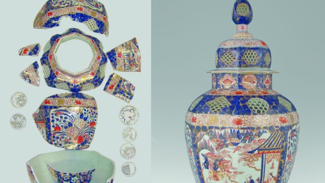 Skleili japońską wazę z 250 kawałków. Można ją podziwiać na Wawelu