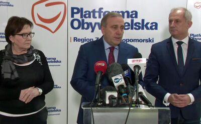 Schetyna o zatrzymaniu Gawłowskiego: początek kampanii PiS, standardy białoruskie