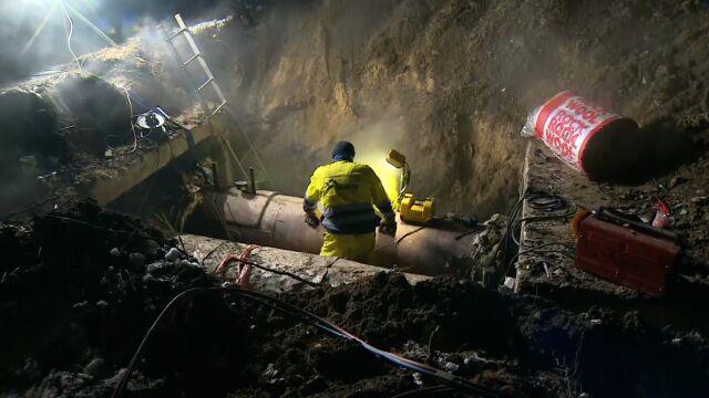 Awaria sieci ciepłowniczej w Dąbrowie Górniczej. Usunięta nad ranem