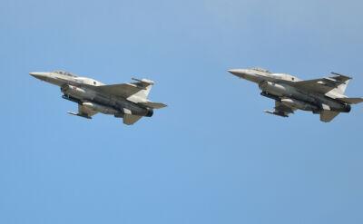 Dwa F-16 miały w środę nastraszyć mieszkańców północy Polski