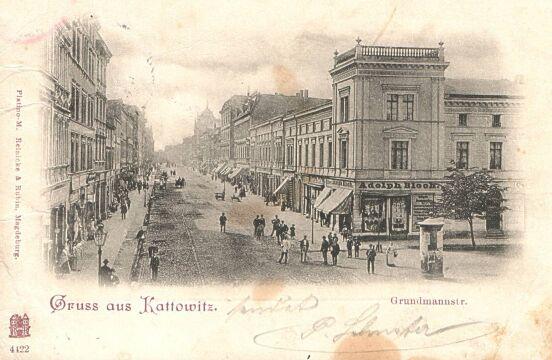Ulica 3 Maja w Katowicach na starej pocztówce