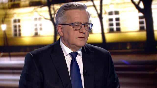 """Bronisław Komorowski w """"Faktach po Faktach"""""""
