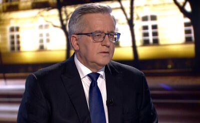 """Bronisław Komorowski, Adrian Zandberg i Piotr Zgorzelski w """"Faktach po Faktach"""". Cała rozmowa"""