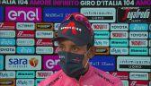 Egan Bernal po 17. etapie Giro d'Italia