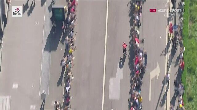 Damiano Caruso kończy Giro d'Italia na drugim miejscu