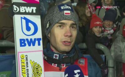 Jakub Wolny po konkursie w Klingenthal