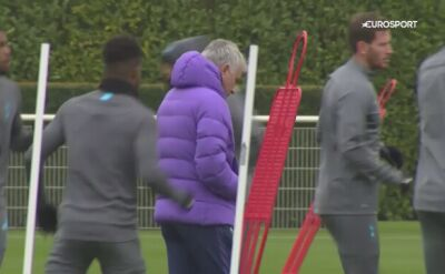 Jose Mourinho szykuje zespół na mecz z Bayernem Monachium
