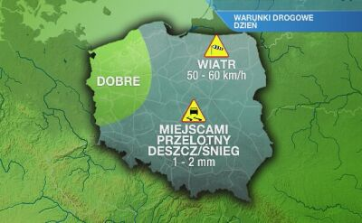 Warunki drogowe w piątek 13.12